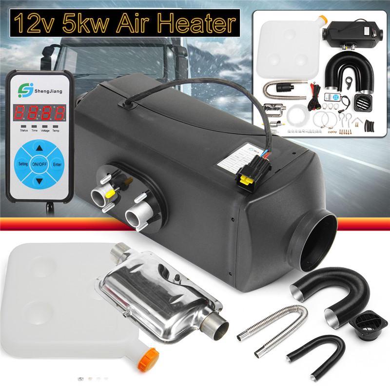 5KW 24V Diesel Air Heater 10L Tank Silencer For Cars Trucks Motor-homes Boat Bus
