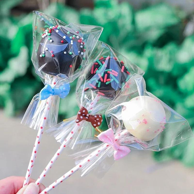 100 Pcs Transparent Candy Bags Flat Open Plastic Birthday Cookie Lollipop Gift Packaging Bags Buy From 2 On Joom E Commerce Platform