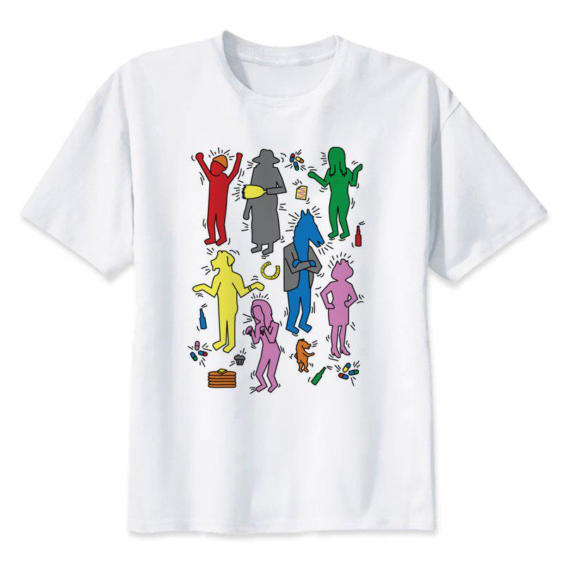 cartoon hero T-Shirt colorful all over printed fun image BoJack The Horseman