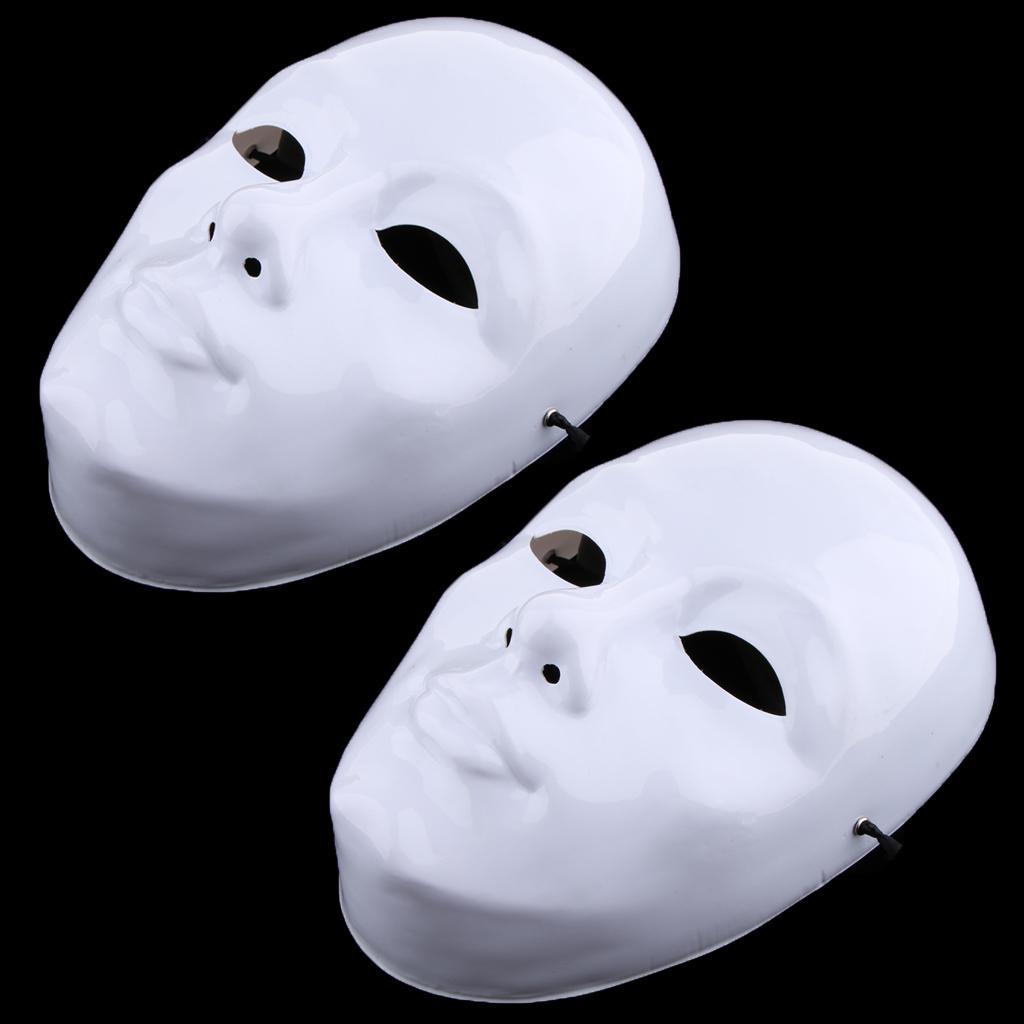2 Adet Diy Boyanmamis Maskesi Beyaz Bos Yuz Maskesi Maskeleri