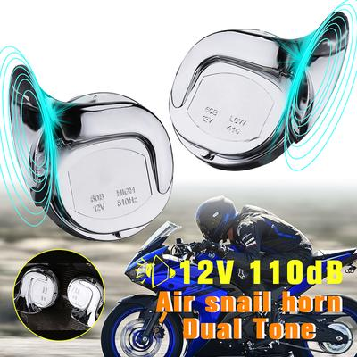 Motorcycle Scooter Electric Horns 12v Super Loud 105dB Air Horn Waterproof Round Loud Horn Speakers 70mm A24 for Moped Dirt Bike ATV Motorcycle 4