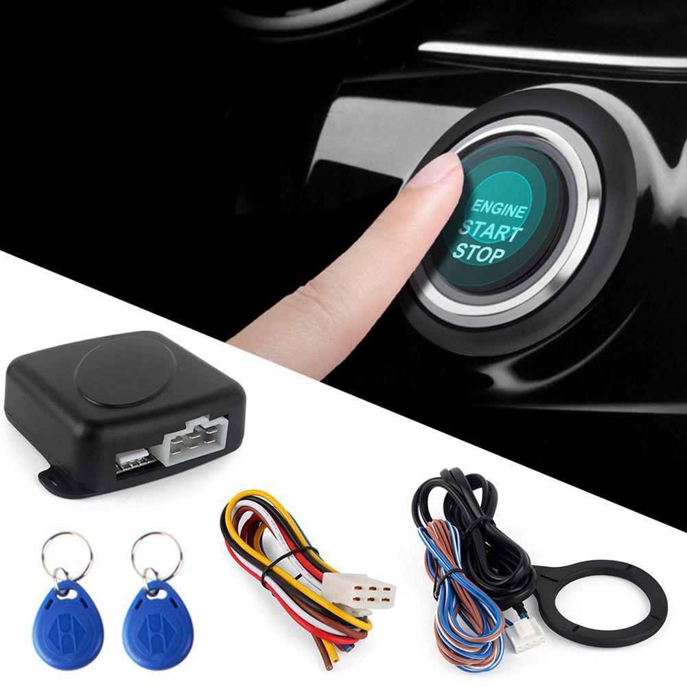Car Keyless Entry Security Alarm System Remote Engine Start Starter Push to Start Stop Button Smart RFID Car Alarm System