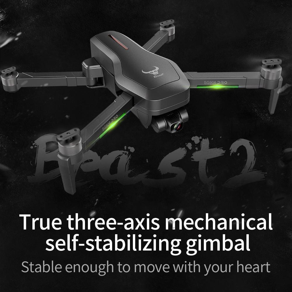 SG906 Pro 2 1.2KM  FPV  Drone 3-axis Gimbal 4K Camera 5G Wifi GPS RC Quadcopter