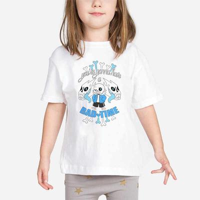 Mermaid Fish Tail Bones Toddler Girls T Shirt Kids Cotton Short Sleeve Ruffle Tee