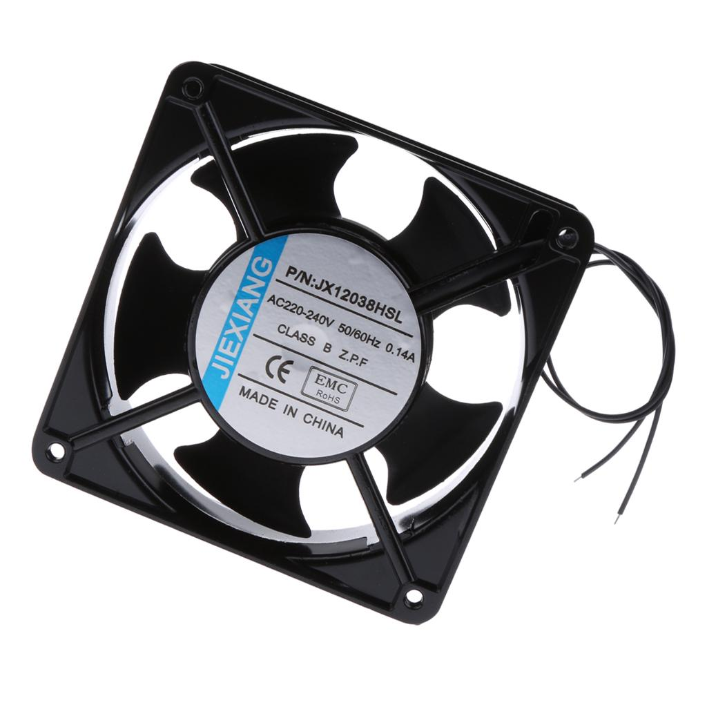 2Pcs 220V DC Cabinet Industrial Cooling Fan For Computer oil seal bearing