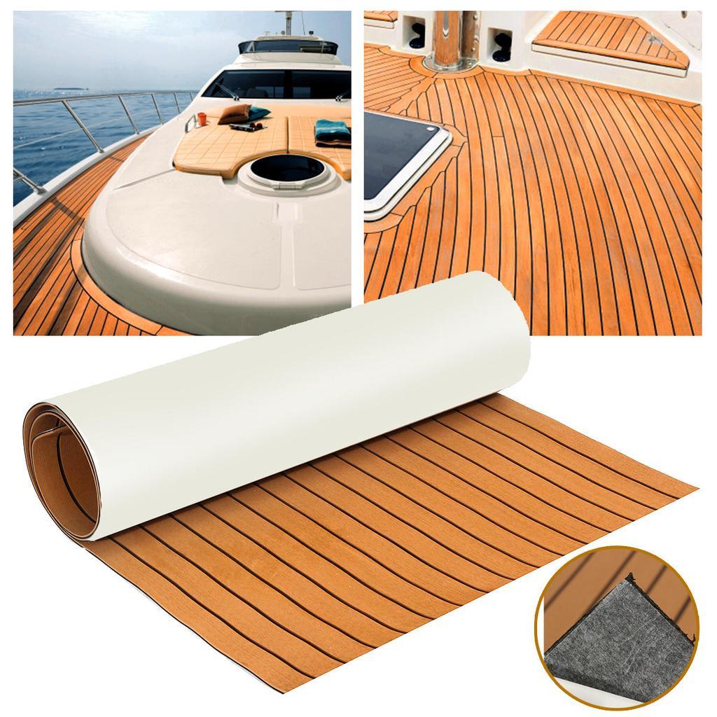 2pcs EVA Boat Teak Deck Pad Marine Yacht Self-Adhesive Mat Gray
