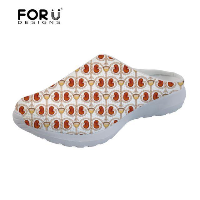 FORUDESIGNS enfermera zapatos mujer sandalias zapatilla enfermería ... 0a7c8b10b037