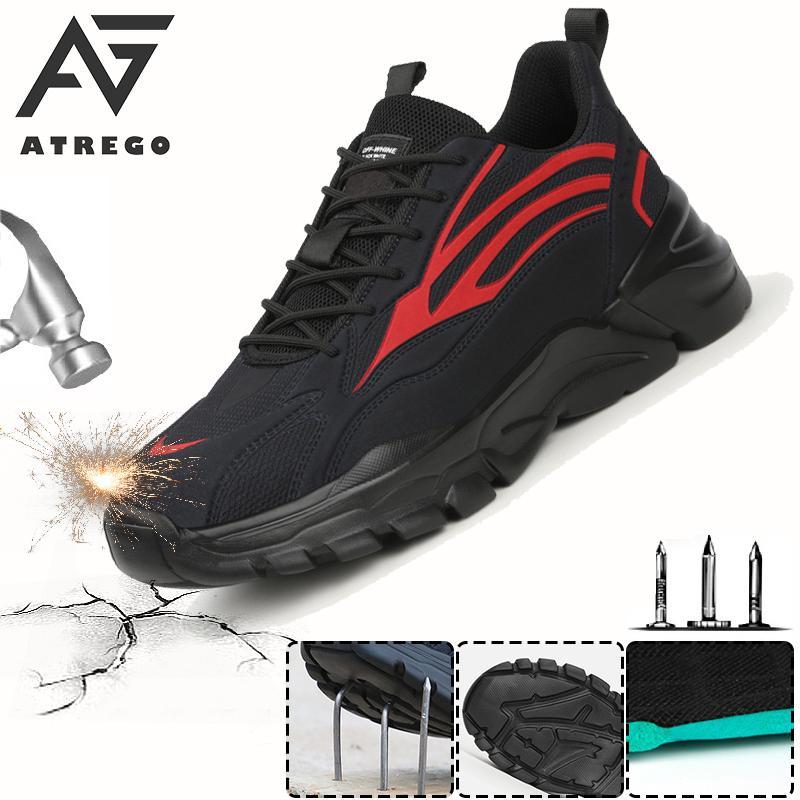 AtreGo Work Safety Shoes For Men Summer