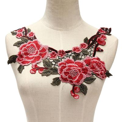 7b480cde303314 Nowy DIY Koronki haftowane kwiatowy dekolt naszywka kołnierz wykończenia  ubrania do szycia aplikacja