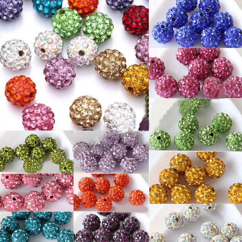 20pcs 6 mm 8 mm 10 mm 12 mm Czech Crystal Strass Pave Round Ball Spacer Beads