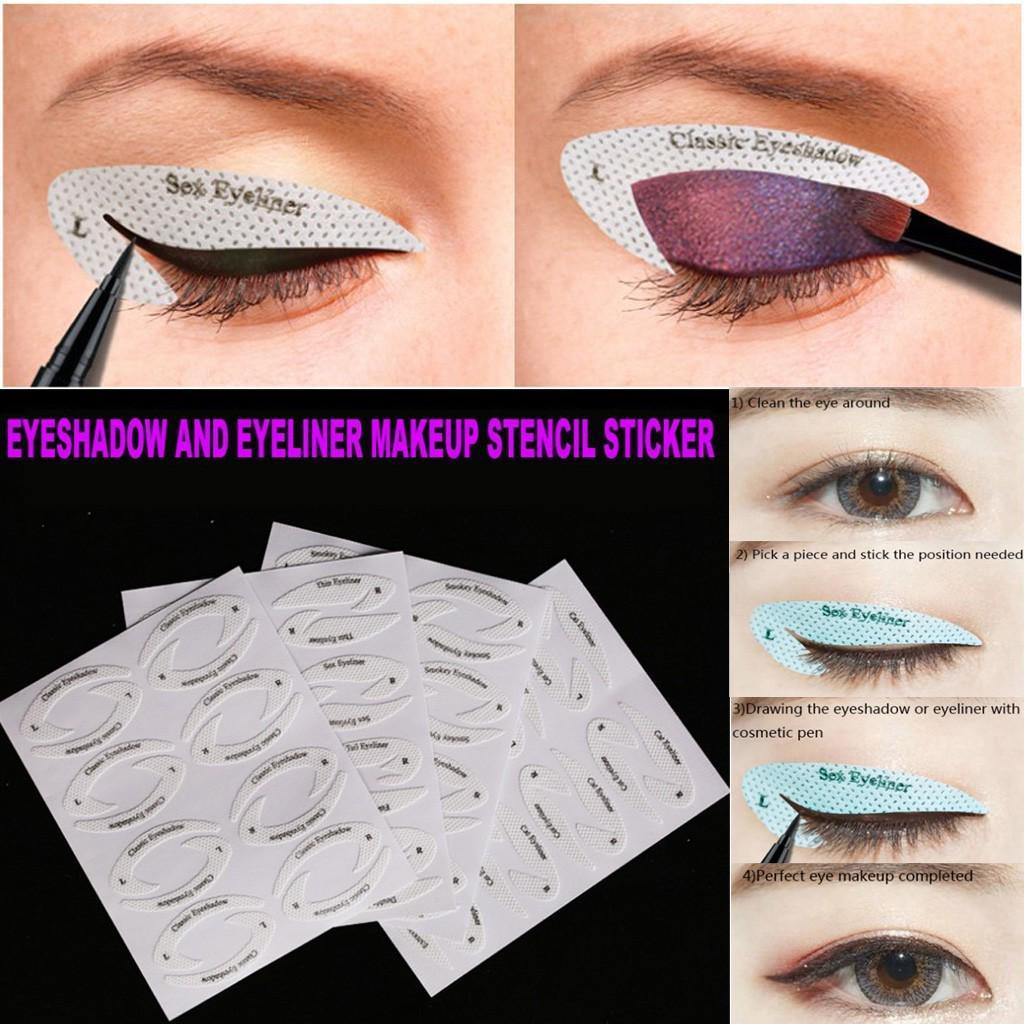 4 Pcs Eyeshadow Eyeliner Quick Make Up