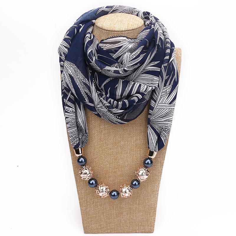 Мода Леди подвеска Bib Шарф Многофункциональный Печать Чифон Дикий ожерелье шарф фото