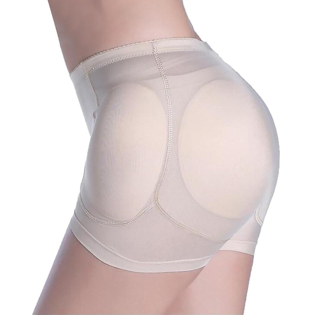 Low Rise Shaper Panty w// Removable Foam Butt Pads Boy Shorts Underwear Shapewear