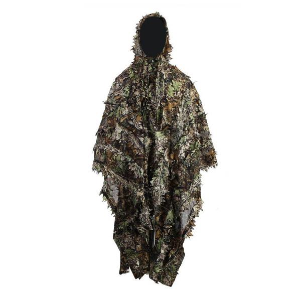 7bb4a8421c4 3d Hunting Ghillie Suit Leafy Poncho Camouflage Cloak For ...