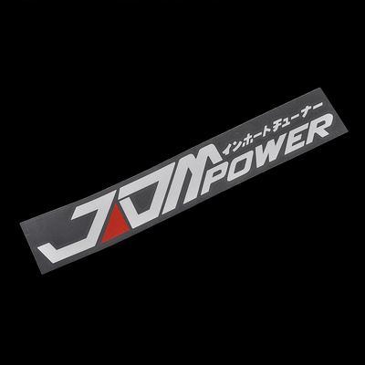 1PC Removable Self-adhesive JDM POWER Car Sticker Bumper Decal Black White