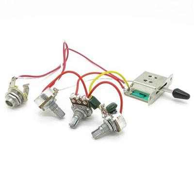 wiring control for guitars wiring harness prewired 3x 500k pots 1 volume 2 tone control knobs  wiring harness prewired 3x 500k pots 1