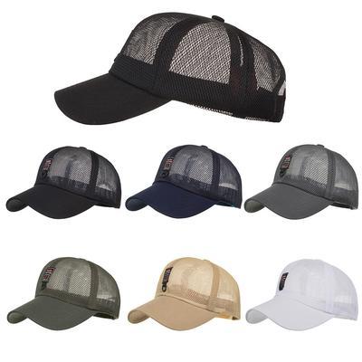 c98cd46b64b Fashion Unisex Women Men Adjustable Summer Solid Letter Mesh Cap Hats  Baseball Hat Shade