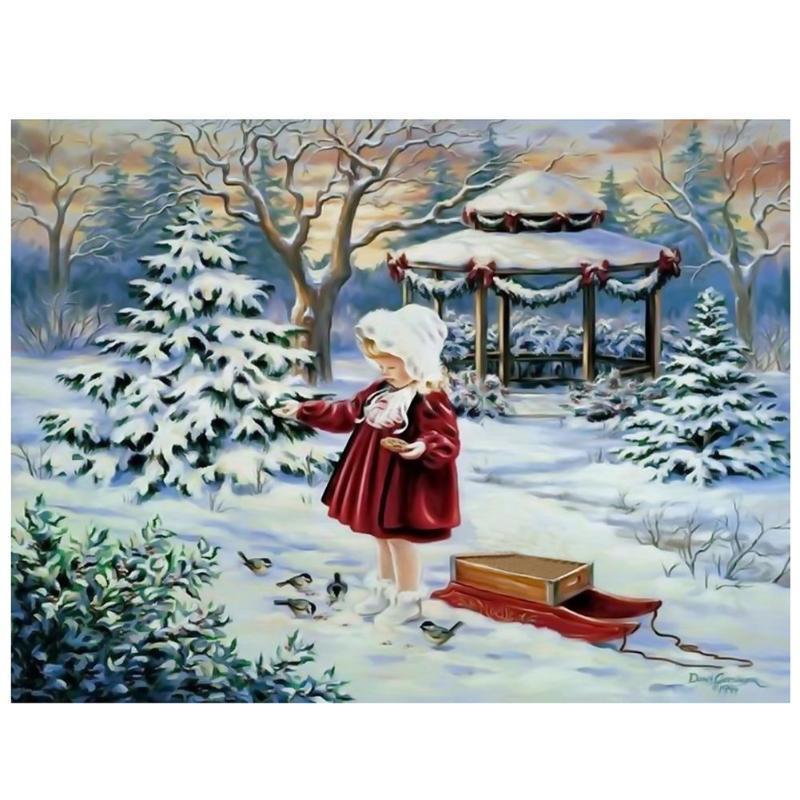 Arte Niños Navidad Regalos 5D puntada cruzada Craft Bordado de pintura de diamante Fotos