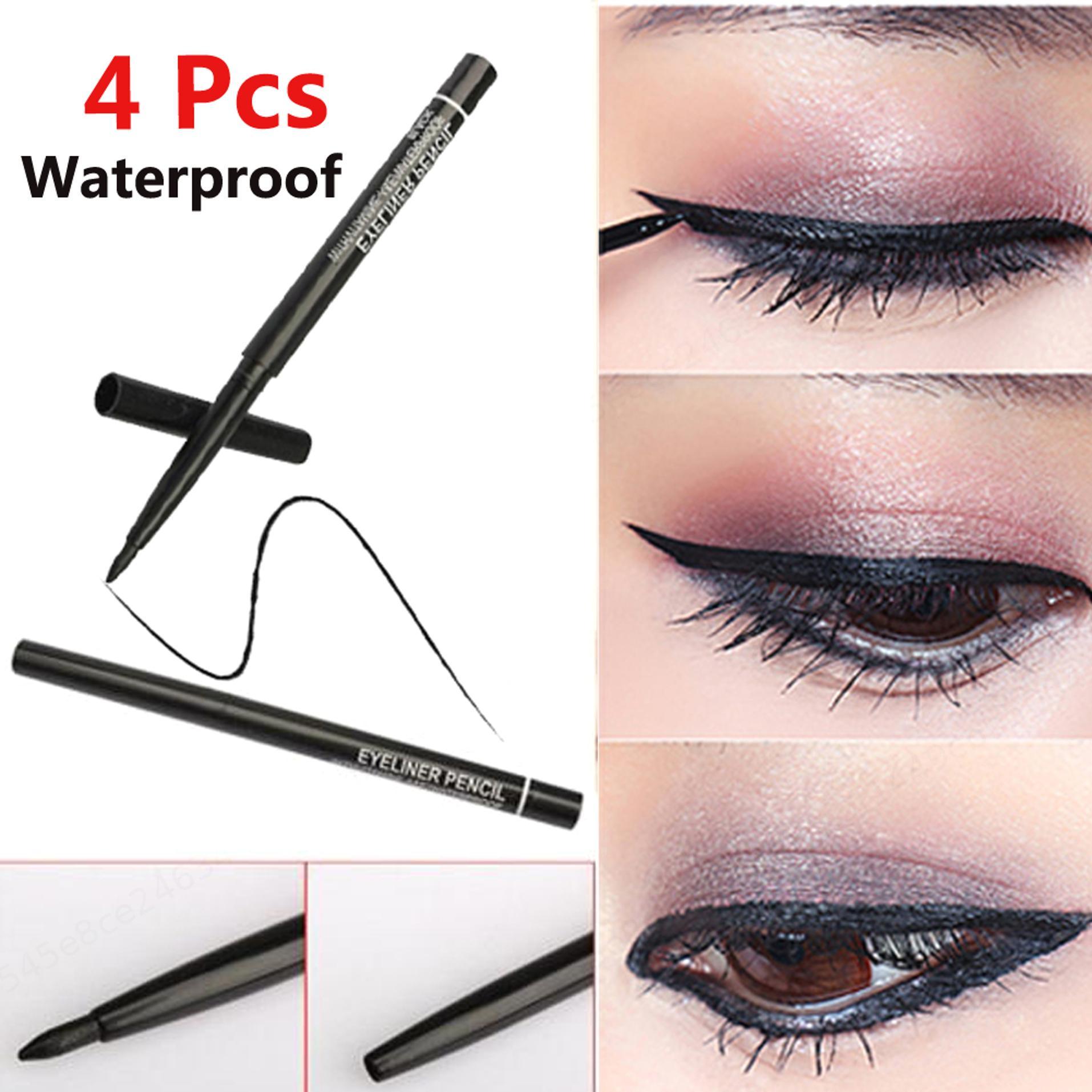 Макияж женщин Ротари выдвижной карандаш водонепроницаемый глаз лайнер Пера Косметический инструмент 4pcs/lot