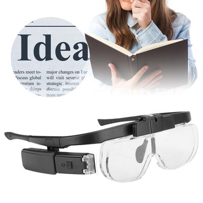 4.5x Led Magnifying Glasses Headset Light Hands Free Reading Magnifiers Home