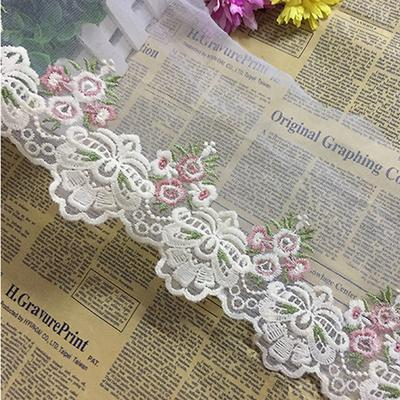 1 Yard Width 15cm Flower Lace Edge Trim Ribbon Embroidered Applique Sewing Craft