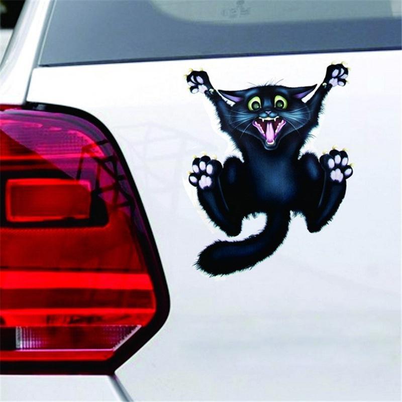 Crazy Cat авто мотоциклов наклейка автомобиль наклейки и наклейки автомобиль окно декор украшений фото