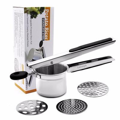 Kitchen Wave Potato Masher Stainless Steel Potato Crusher Hand-held Masher