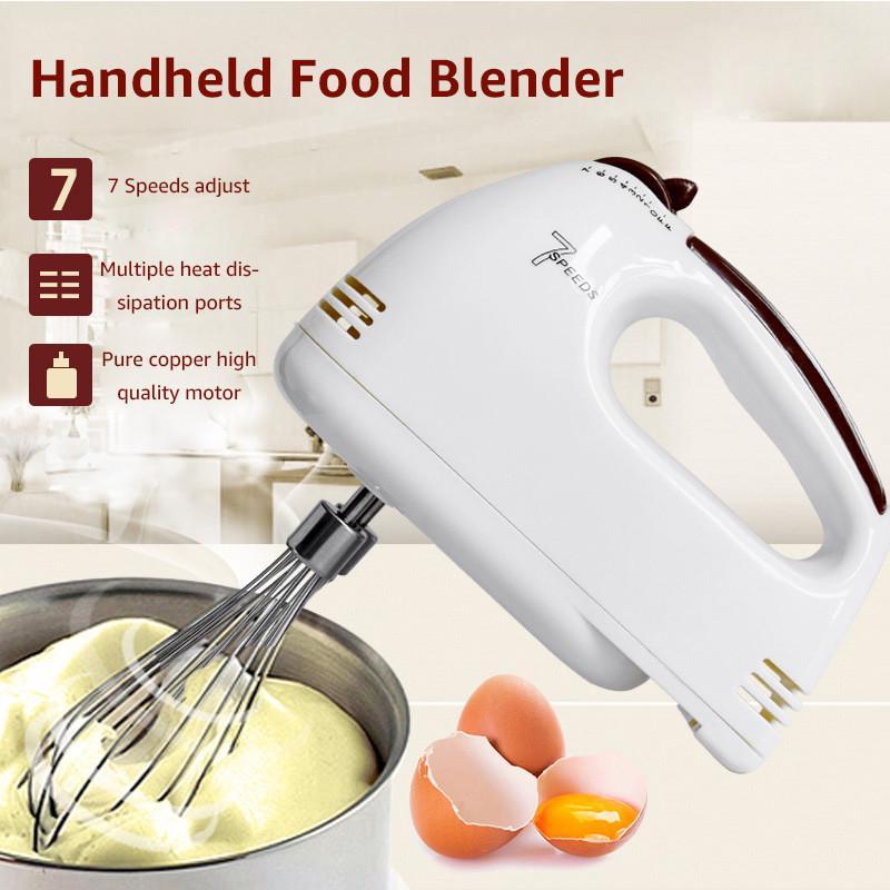 Hand held electric vitesse 5 main mélangeur batteur fouet blanc cuisson cuisine outil nouveau