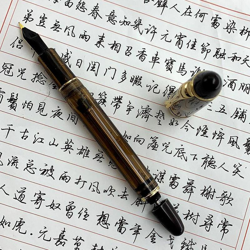 Baoer 801 Stainless Steel Metal Medium Nib Fountain Pen WritingStudent Office