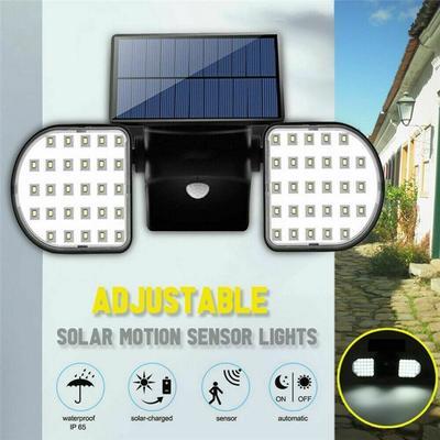 56LED Dual Security Detector Solar Spot Light Motion Sensor Outdoor Floodlight