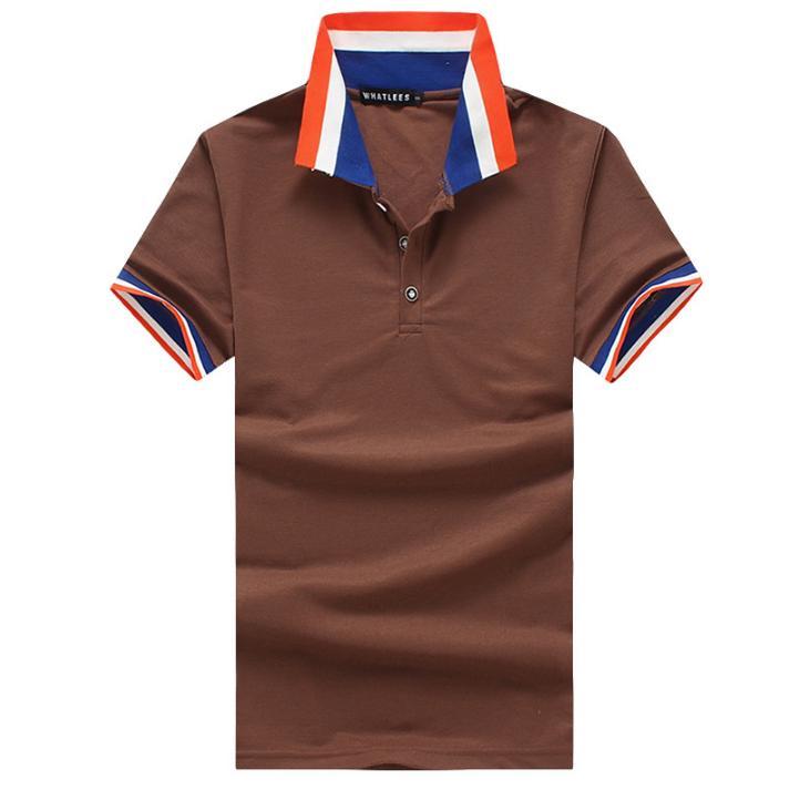 11743003c7d Personalidad de camisa Hit Color hombres verano multicolor solapa ...