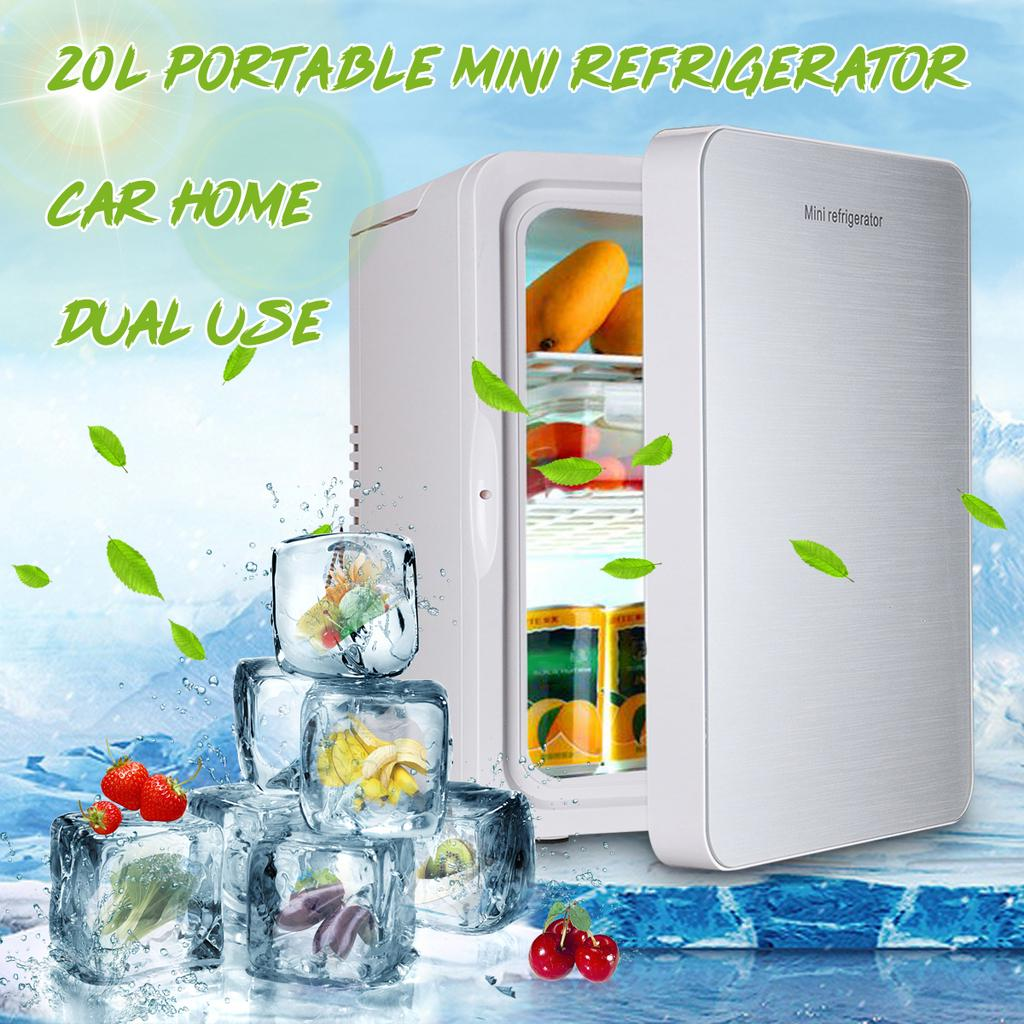 20 L Mini Fridge Mini bar Portable Refrigerator Camping 12v 230v Camper Office