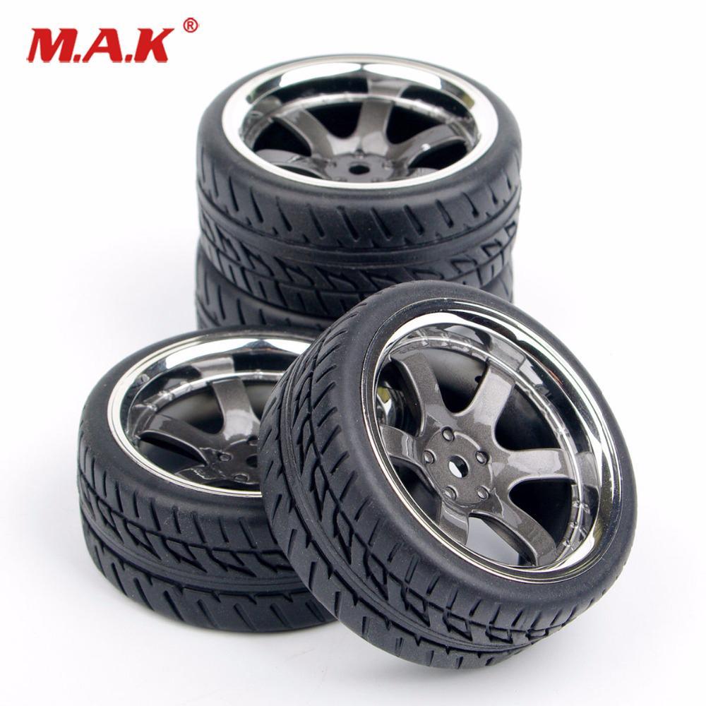 4X Kforce Foam Tires /&Wheel Rims 12mm Hex For HSP HPI 1//10 RC On-road Racing Car