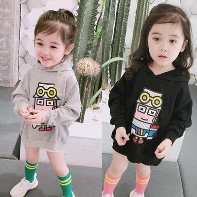 Toddler Cute Baby Children Girl Long Sleeve Pocket Loose Hoodies Sweatshirt