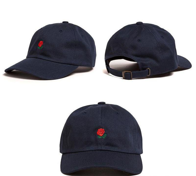 Sports Beach Sun Baseball Cap Embroidered Rose Casquette Hats Casual Sport Hat
