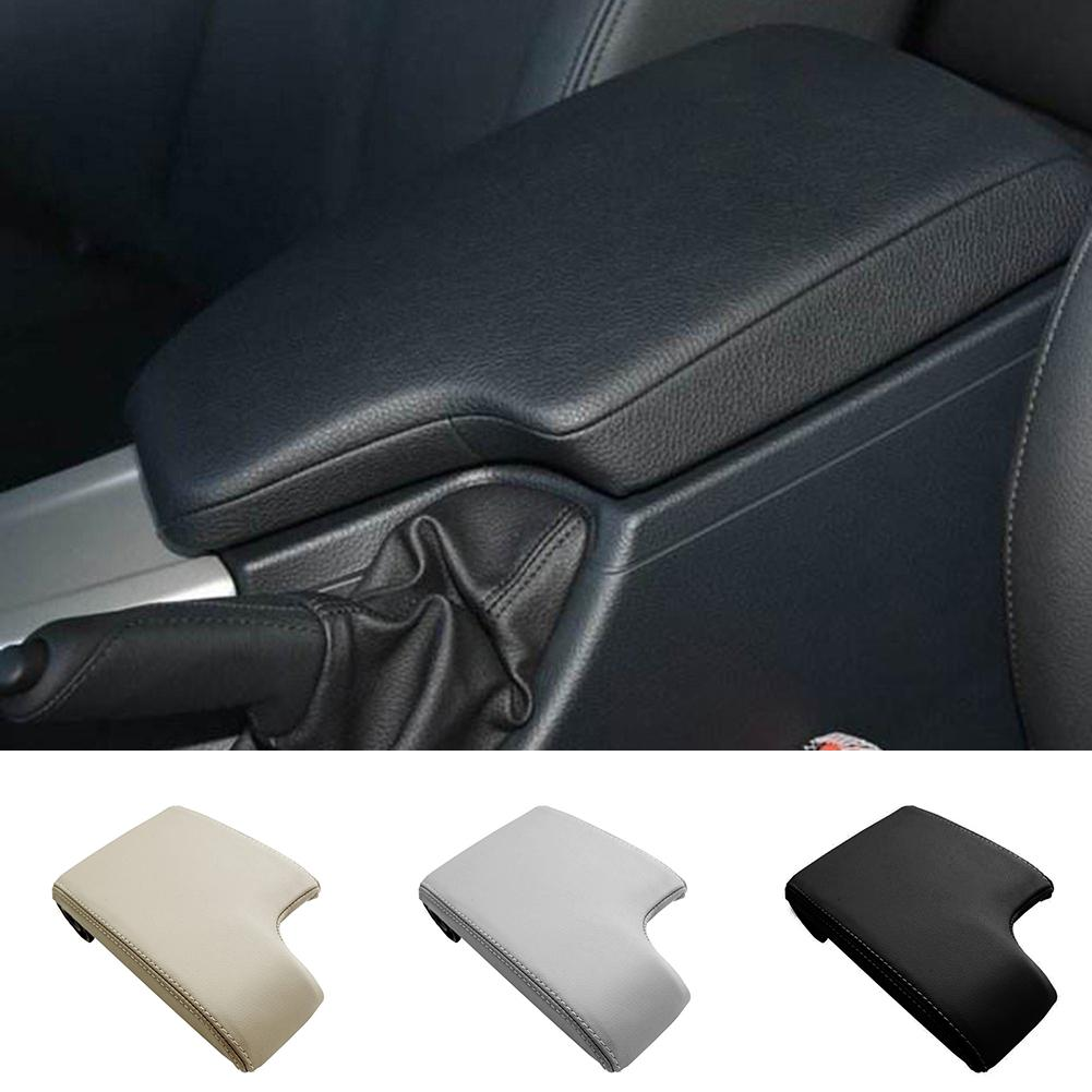 Center Console Armrest Real Leather Cover for BMW E46 Gray 99-04 M Type Stitch