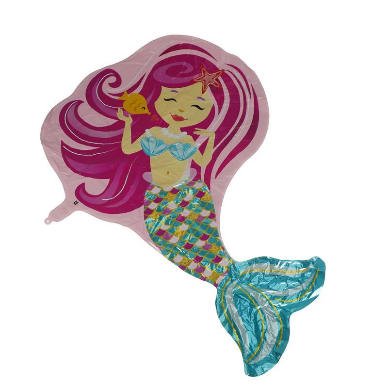 Beautiful Mermaid Foil Balloons Kids Toy Christmas Birthday Decor