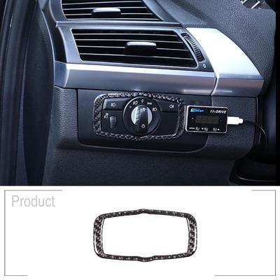 Soft Carbon Fiber Car Interior Center Console Air Conditioning Vent Frame Trim For X5 E70 X6 E71 2008-2013