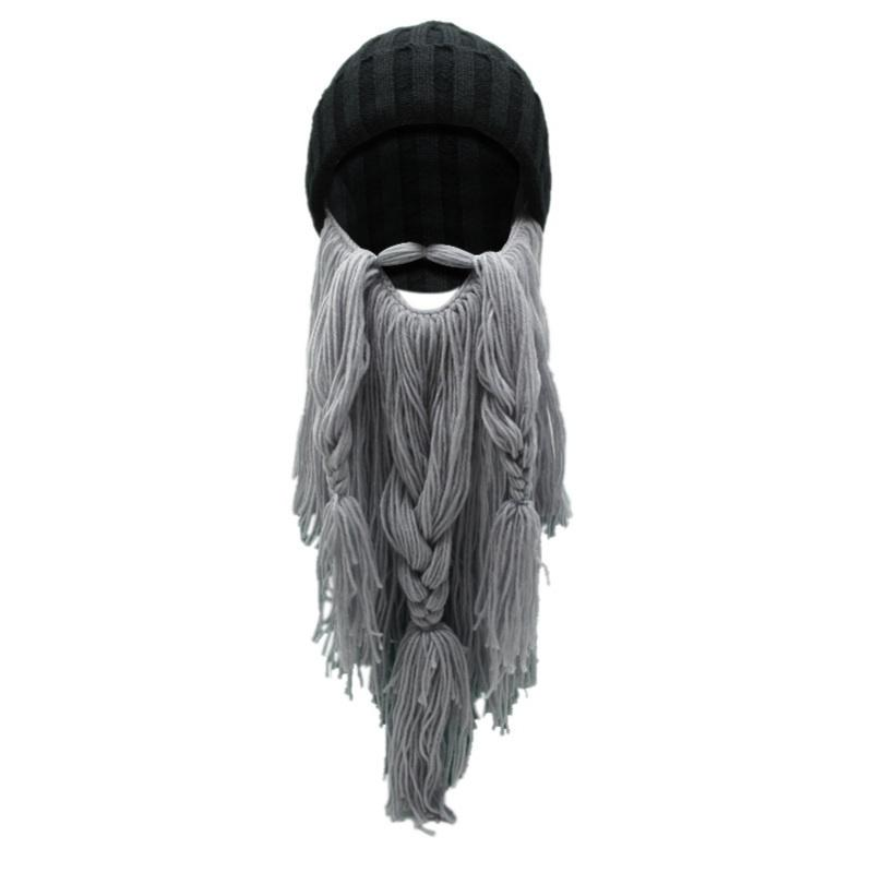Hombres bárbaro vikingo vagabundo barba cuerno sombreros a mano ...