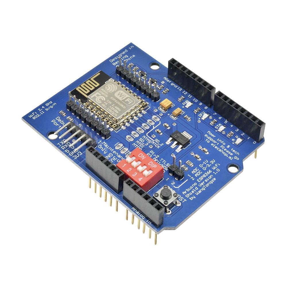 ESP8266 ESP-12 ESP-12E UART WiFi Wireless Shield Development Board for Arduino Mega UNO R3 Module Mega 3.3V 5V TTL Interface