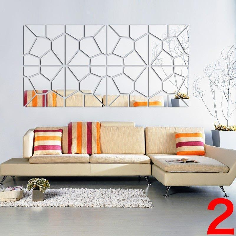 Ed Mirrors Self Adhesive Wall, Decorative Wall Mirror Stickers