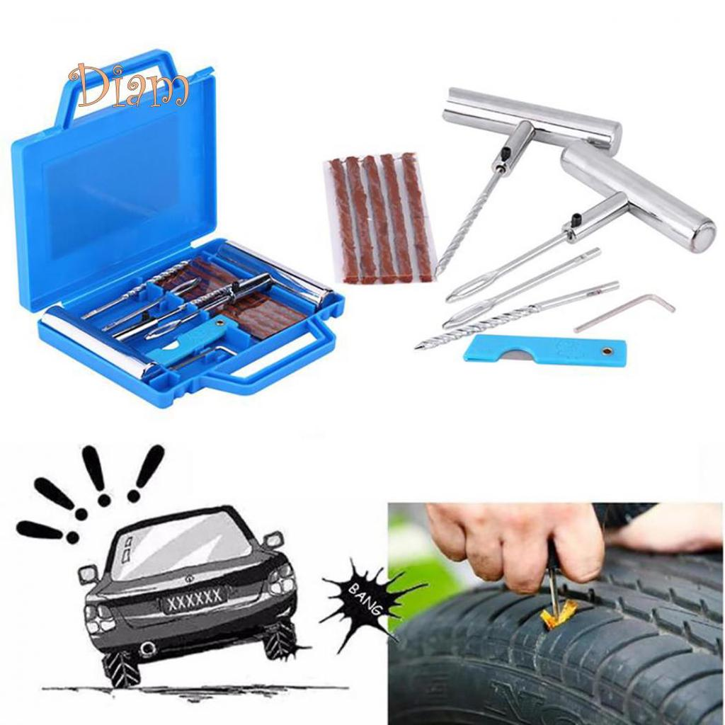 Motorcycle Tyre Repair Kit Trucks Cars Basic Tubeless Tyre Puncture Repair Kit With 5 Strips for Motorcyles Tractors; Tyre Repair Kit Cars SUVs Vans