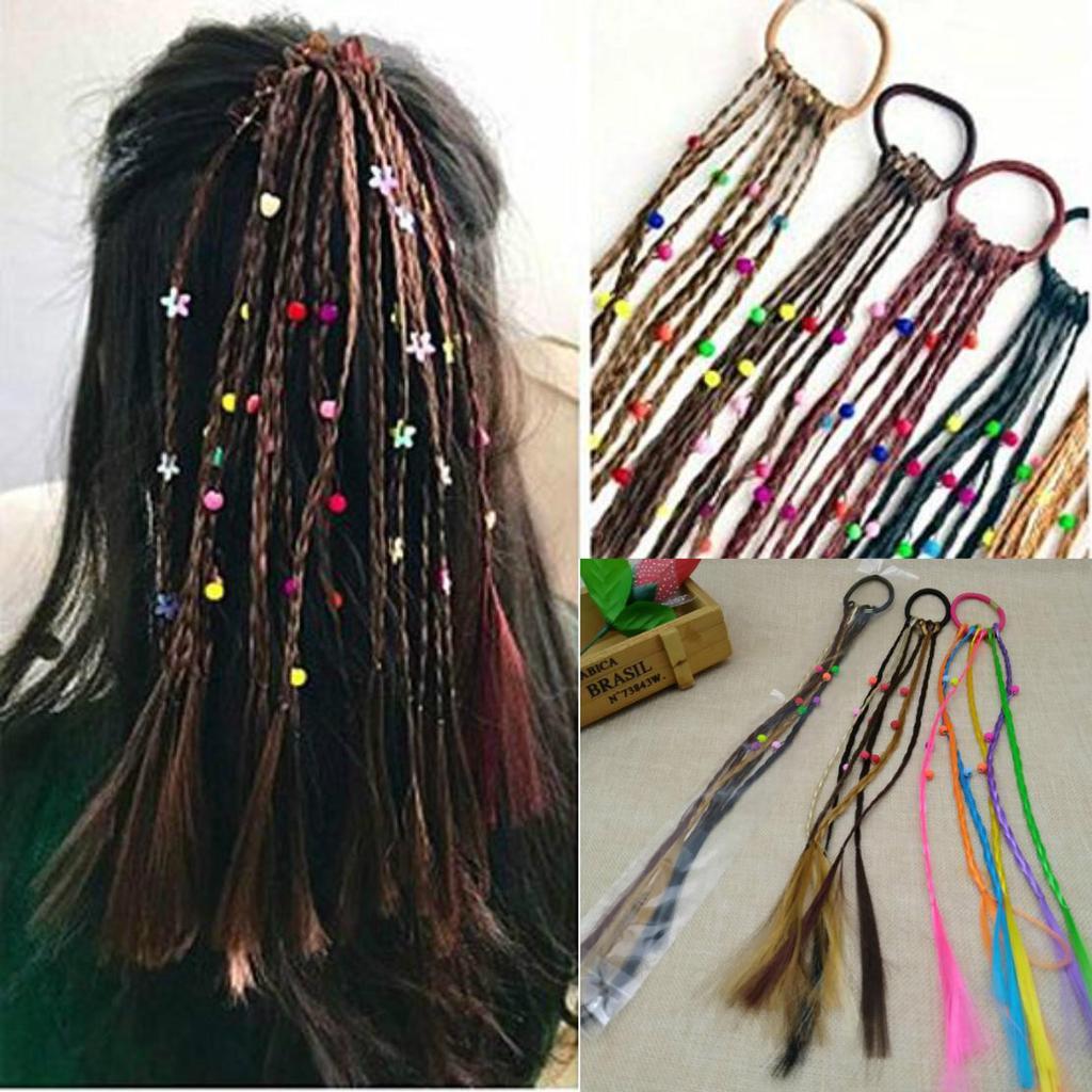 Резинка для волос с тонкими косичками фото