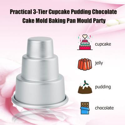 DIY Mini 3-Tier Cupcake Pudding Chocolate Cake Mold Baking Pan Mould Party LR SE