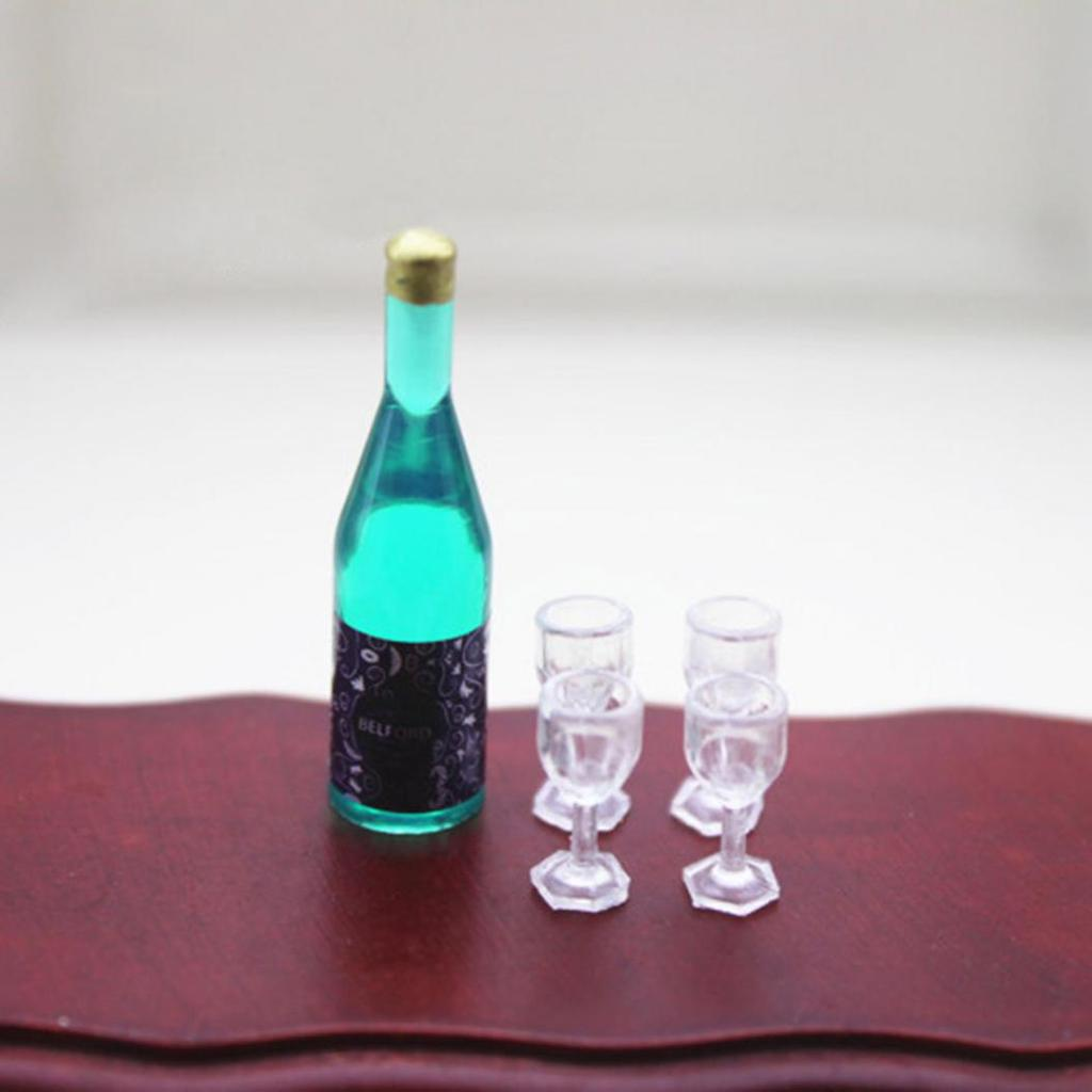 10pcs Dollhouse Miniature Wine Bottle Mini Decor accessories Toy PVCA