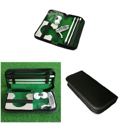 Golfs Golf Ball Practicee Putting Training Set Putter Indoor Travel Portable Holder