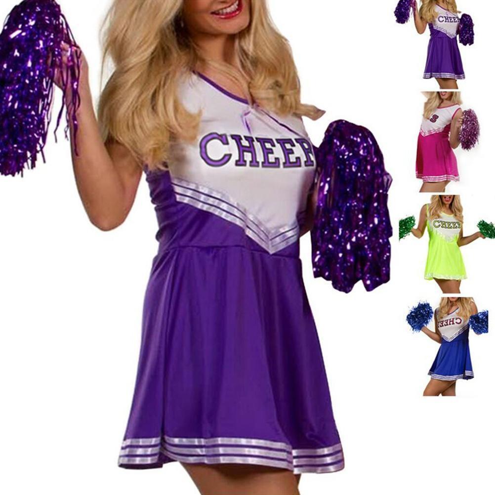 Cheerleader School Girl uniforme partido traje deportes partido ...