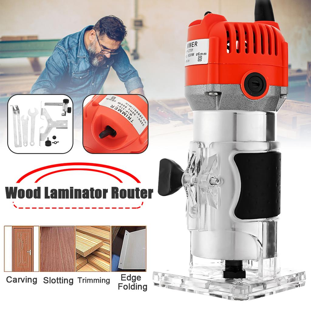 220v Wood Electric Trimmer 800w Woodworking Wood Milling 30000r Min Electric Power Trimmer Wood Laminator Router Edge Joiners Buy At A Low Prices On Joom E Commerce Platform