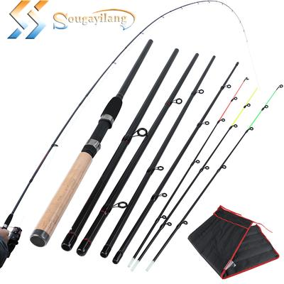1.4m Foldable Fishing Rod Built-in Fishing Reel with 80m Line Portable Fish Rod