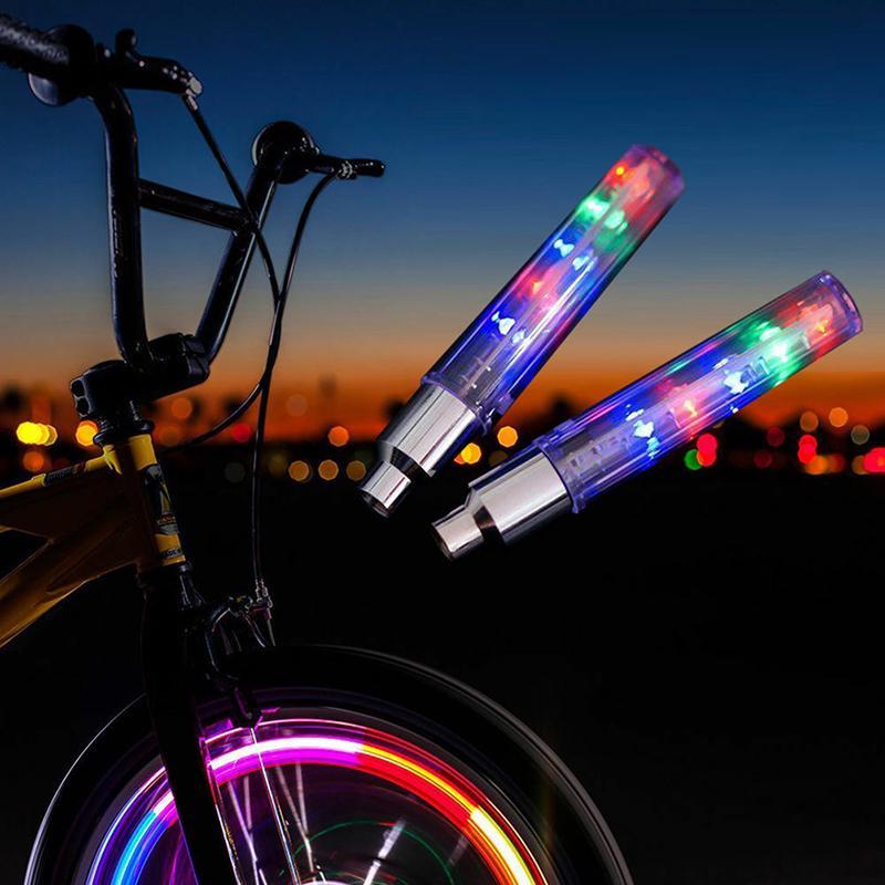 2x Waterproof Bike Bicycle Cycling Wheel Spoke Tire Wire Tyre Bright LED Light